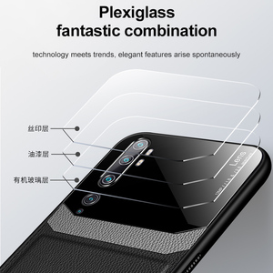 Image 2 - 10pcs/lot Back Phone Case For Xiaomi CC9 9 9SE Pro 9 Lite For Redmi 8 8A 7 Organic PC Grained Skin Pattern Leather Cover Coque