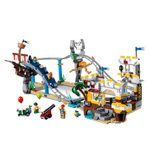 New Creators Bricks Toys Pirate Roller Coaster Compatible Legoingly Ideas 31084 Building Blocks for Children Christmas Gift