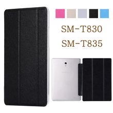 Tablet case for funda Samsung Galaxy Tab S4 10.5 2018 Case SM-T830 SM-T835 PU leather flip cover stand case protective shell цена 2017