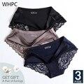 WHPC 3 Teile/los Spitze frauen Höschen Sets Nahtlose Unterwäsche Weibliche Seide Slip Unterhose Dame Bragas Frau Sexy Dessous XXL