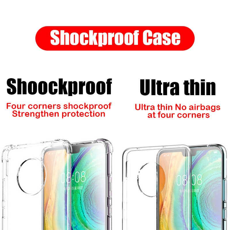 TransparentสำหรับไอโฟนiPhone 11 Pro X Xr Xs Max12 mini ProซิลิโคนกรณีiPhone 6 6S 7 8 Plus 5 5S SE 2020ฝาครอบด้านหลังเคสโทรศัพท์