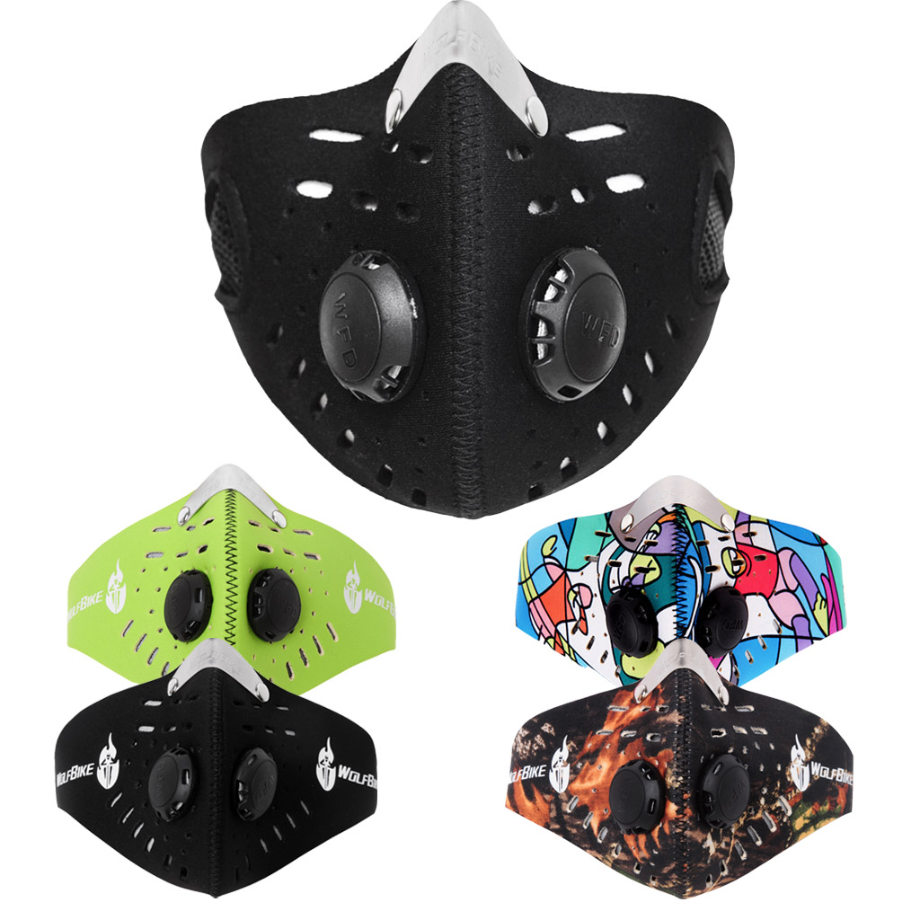 Unisex Anti Dust Motorcycle Bicycle Cycling Bike Ski Half Face Mask Filter Snowboarding Sets Half Face Mask