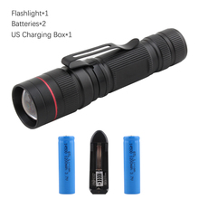 Powerful flashlight USB charging flashlights lighting 18650 battery torch waterproof 1600LM outdoor camping lighting torch light цена