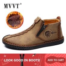 Plus Size Men Winter boots Split Leather Boots Men Snow Boot