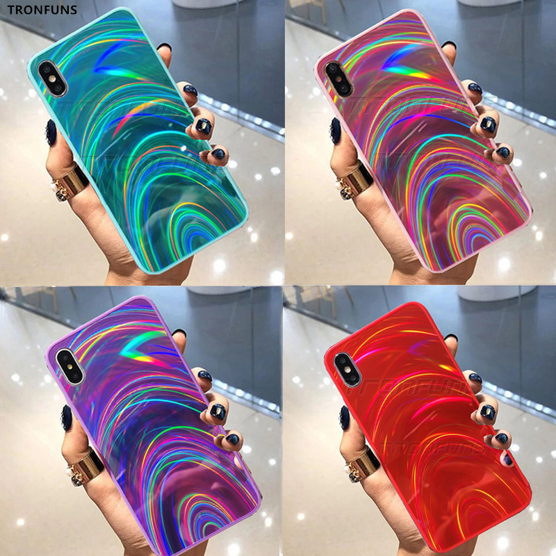 Luxury 3D Rainbow Case For Huawei <font><b>Honor</b></font> 20i 10i 10 Lite Cases Glitter Mirror Case For Huawei <font><b>Honor</b></font> <font><b>8X</b></font> 8A 8S 7C Soft TPU <font><b>Cover</b></font> image