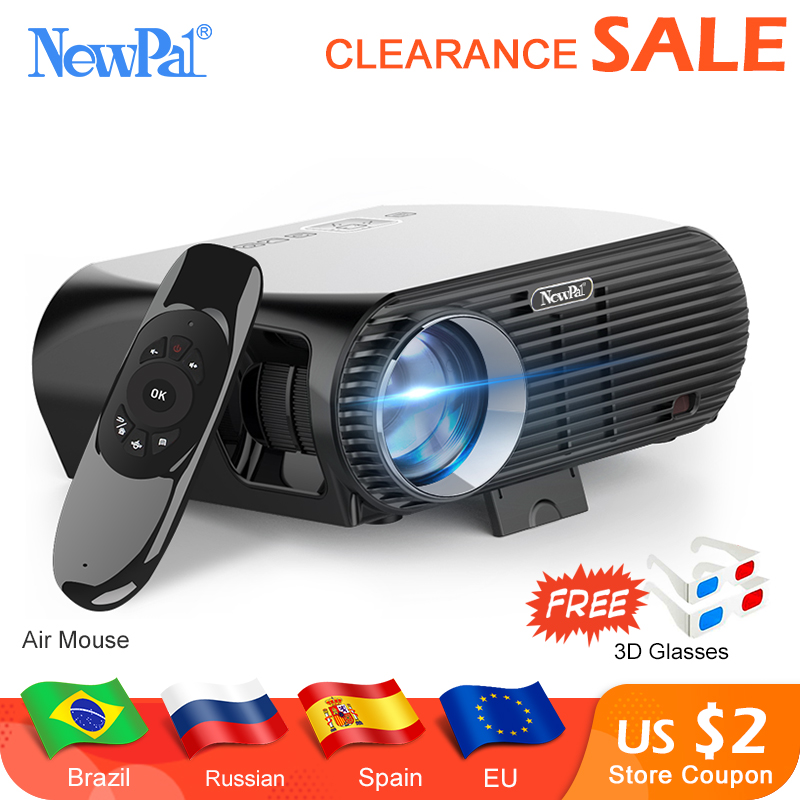 Newpal GP100UP 4K de Cinema Em Casa LEVOU Projetor 3500 Lumens Projetor Full HD 1080P Android 6.01 WIFI Bluetooth Miracast beamer TV