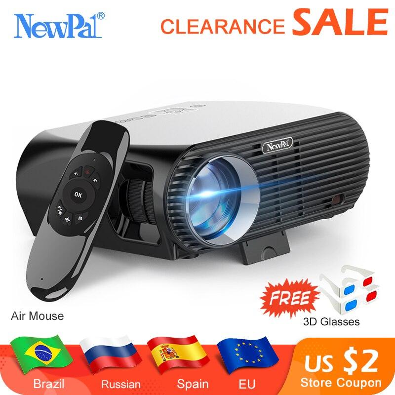 Projecteur Newpal GP100UP projecteur LED 4K Home Cinema 3500 Lumens Full HD 1080P Android 6.01 WIFI Bluetooth Miracast Beamer TV