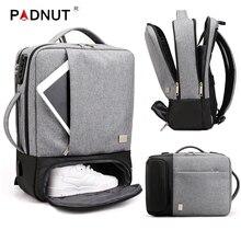 남자 배낭 다기능 안티 절도 노트북 학생 Bagpack 노트북 USB 충전 방수 망 백 팩 비즈니스 남성 가방