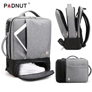 Image 1 - 남자 배낭 다기능 안티 절도 노트북 학생 Bagpack 노트북 USB 충전 방수 망 백 팩 비즈니스 남성 가방