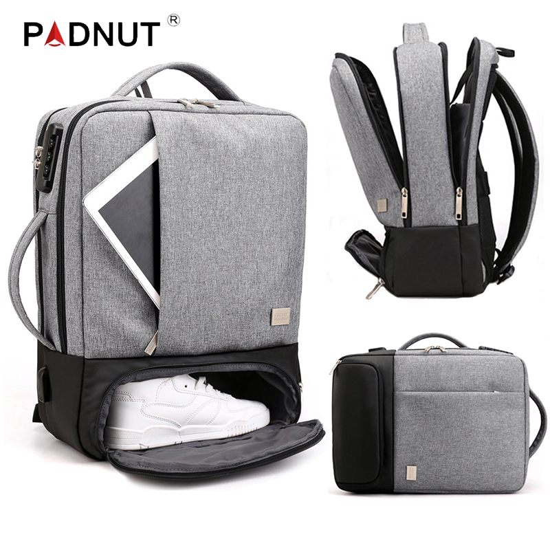 Men Backpack Multifunctional Anti Theft Laptop Student Bagpack Notebook USB Charging Waterproof Mens Back Pack Business Male Bag