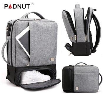 Men Backpack Multifunctional Anti Theft Laptop Student Bagpack Notebook USB Charging Waterproof Mens Back Pack Business Male Bag