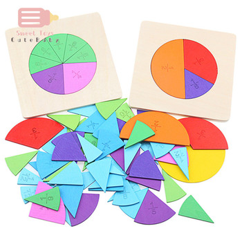 Preschool Circular Mathematics Fraction Board Division Teaching Aids Montessori Education Math Toy Children Learning Toy wooden mathematics teaching aids calculation frame children early education puzzle educational toys montessori in math toy