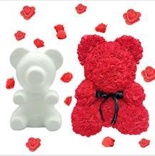 1pc Modelling Polystyrene Styrofoam Foam Teddy Bear Mould White Craft Balls DIY Birthday Party Decoration Wedding Gift Flower