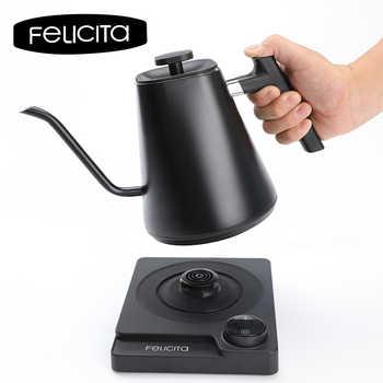 Felicita-bouilloire à café 110V/220 vélectrique   Bouilloire à col cygne numérique/température Variable, 600ml