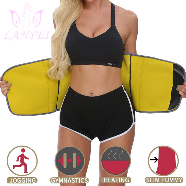 LANFEI Women Slimming Belt Waist Trainer Body Shaper Corset Neoprene Sweat Sauna Cinchers Underwear Faja Sport Weight Loss Strap 2