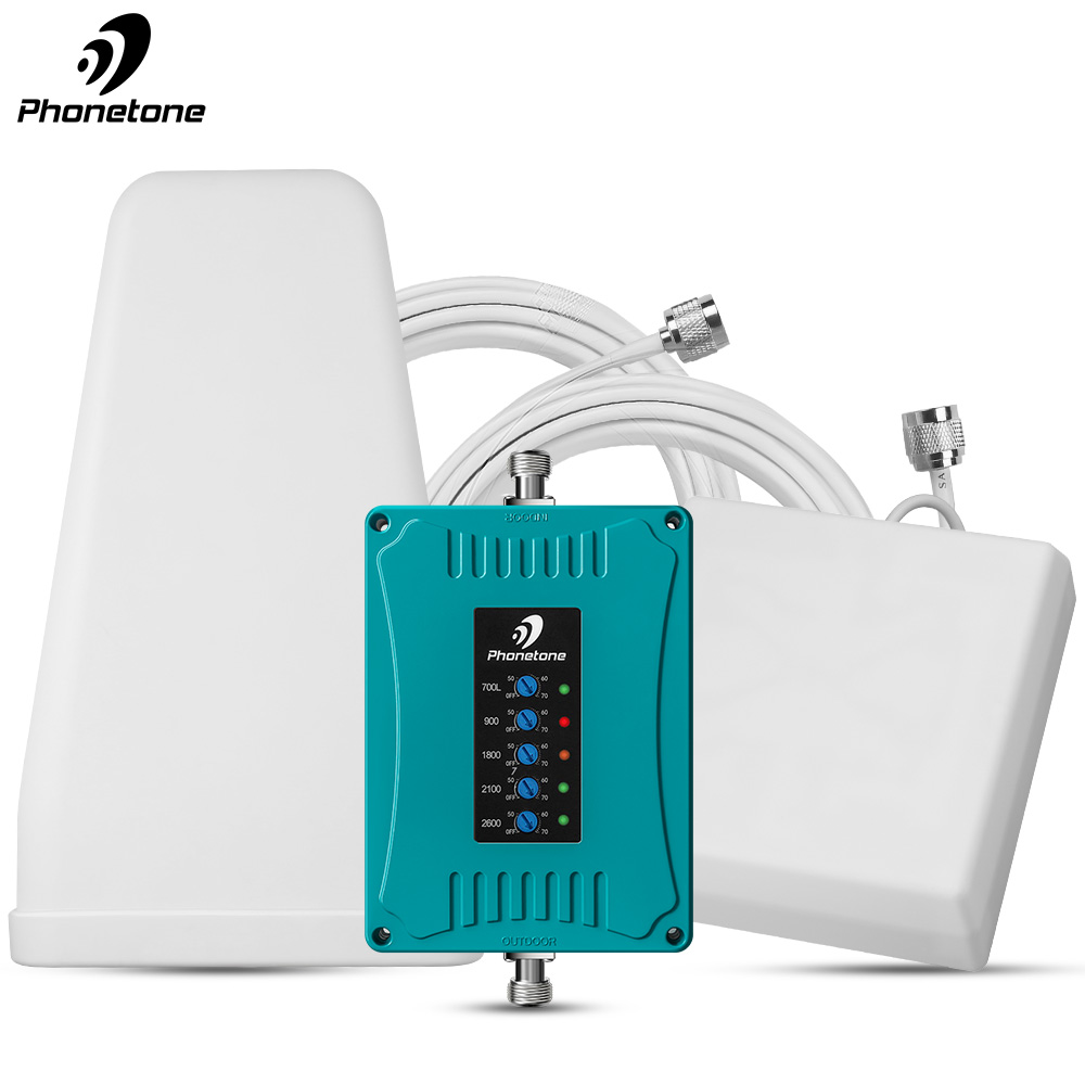 Amplifier 2G 3G 4G Mobile Signal Booster 700/900/1800/2100/2600MHz GSM Repeater Band 3/28/8/1/7 For Saudi Arabia STC Zain Mobily