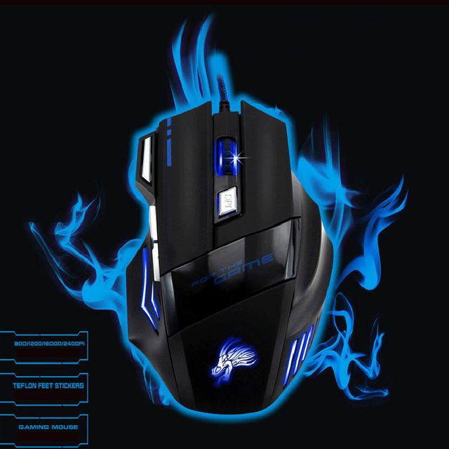 New H7 Gaming Mouse Wired 7 Buttons 5500 DPI Esports RGB Backlit Slient Mouse Professional Optical Office Mouse for PC Laptop 1