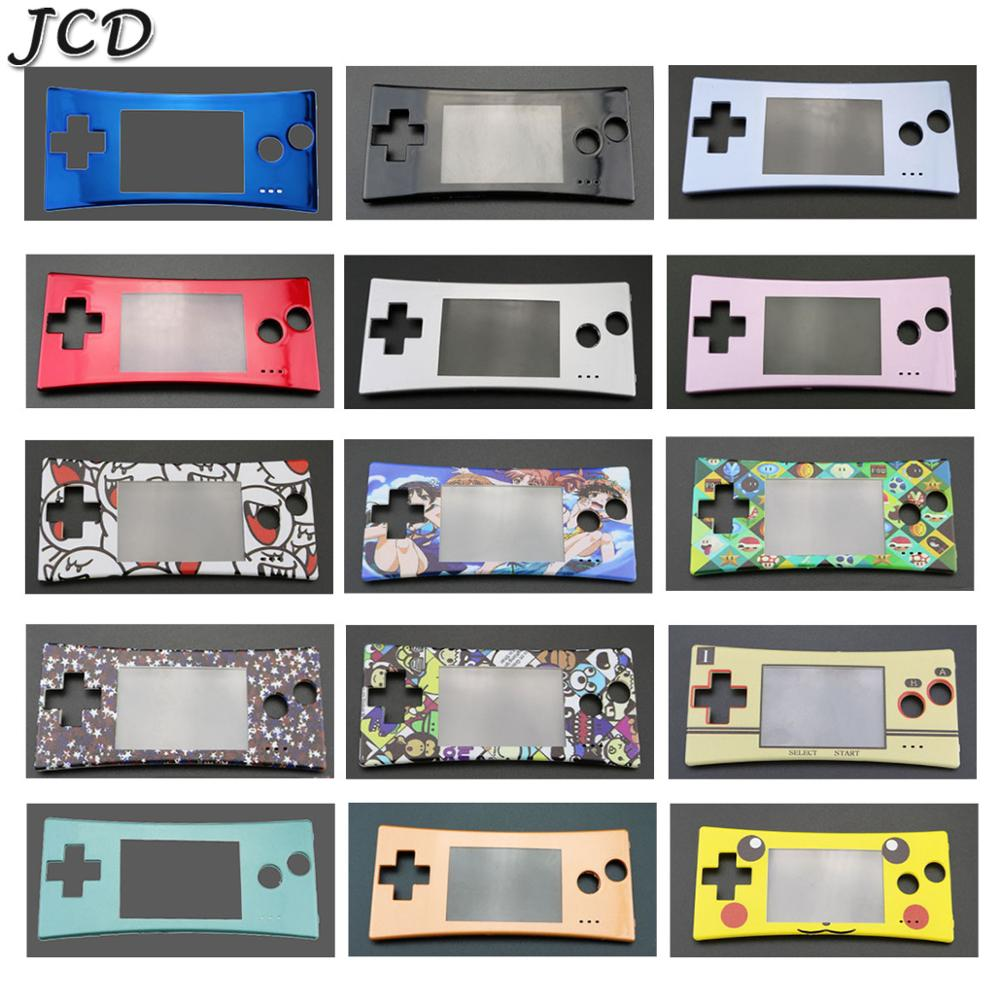 JCD 16colors Replacement For Nintend GameBoy Micro Shell Housing <font><b>Case</b></font> Cover For <font><b>GBM</b></font> Halloween Front Faceplate Face cover image