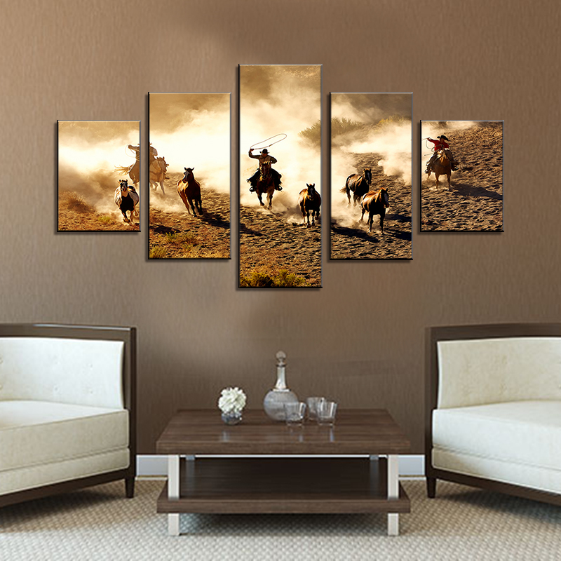 Coffee Shop Living Room Art Wall Decor oil painting Picture Printed On Canvas