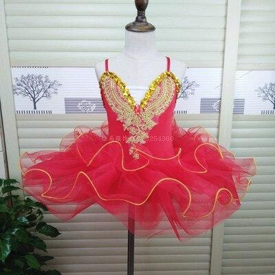 Г. Детское балетное платье Пушистый костюм платье принцессы платье для танцев с изображением маленького лебедя платье для выступлений для девочек, Costumeflower, платья для девочек - Цвет: red