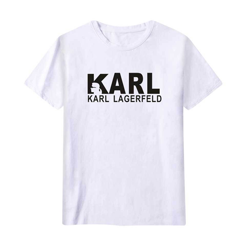 LISCN Casual Fashion T-shirt Letter Print Karl Legerfeld Men's And Women's Plus Size Clothing