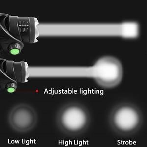 Image 5 - Xm l l2 XML T6 5000lm farol de led, com sensor de movimento, farol, lanterna, para áreas externas