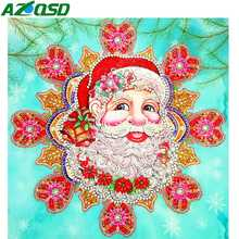AZQSD Christmas Diamond Painting 5d Santa Claus Embroidery Gift Handmade Special Shaped 40x40 Picture Of Rhinestones diy