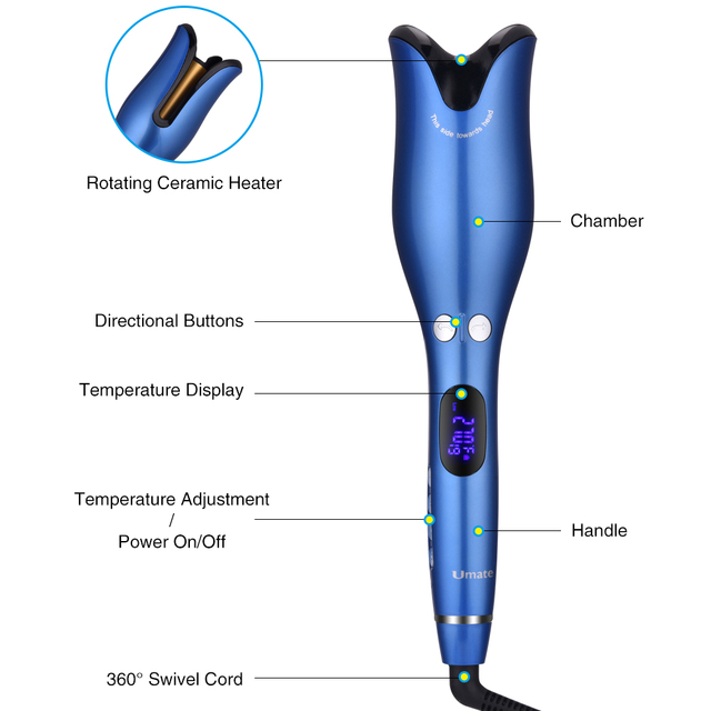 1 Inch Rotating Automatic Curling Iron Hair Curler Wand Curl Magic Hair Curling Iron Titanium Hair Curlers Salon Styling Tools