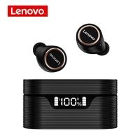 Lenovo-auriculares inalámbricos LP12 con TWS, cascos deportivos impermeables con Bluetooth 5,0, pantalla digital inteligente y micrófono para música