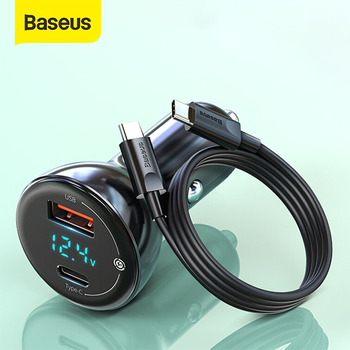 Baseus 65W Car Charger Cigarette Lighter Type C Fast Charging For Phone Tablet Laptop Charge Auto Charger Adapter Accessories