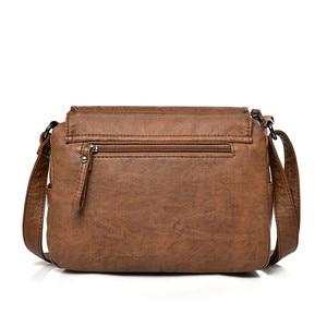 Image 3 - Duas tampas das mulheres do vintage saco de 2019 bolsas de luxo mulheres sacos designer de couro Macio feminino Saco pequeno mensageiro Bolsa de Ombro Aba