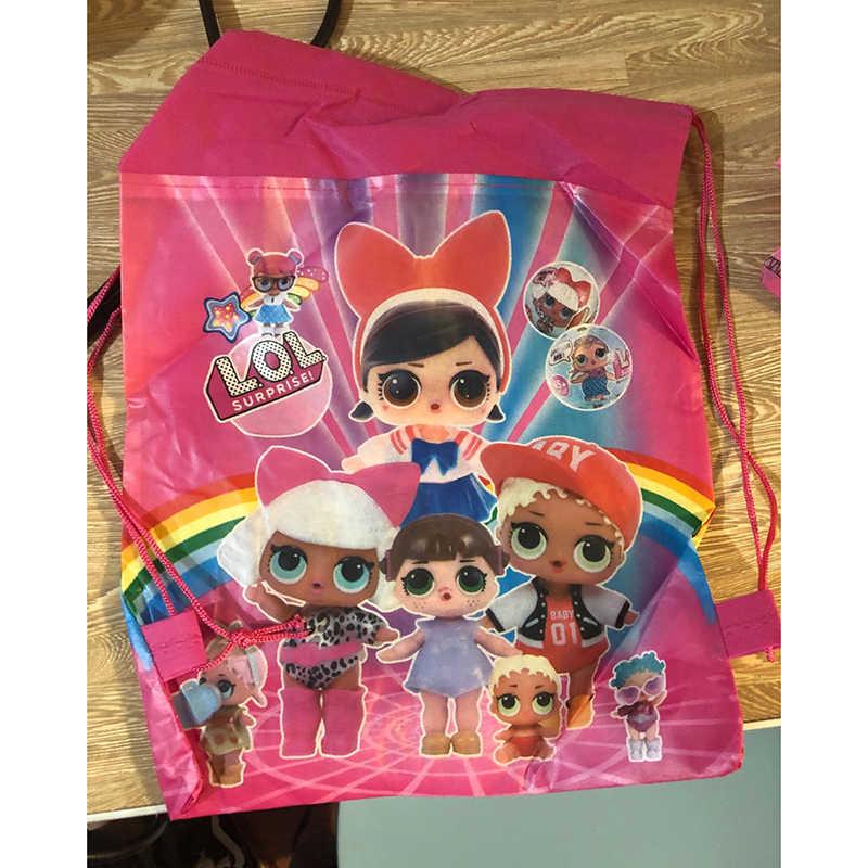 Bolsa de almacenamiento de bolsillo Original, bolsa de compras de tela no tejida, muñecas sorpresa lol, juguetes de figuras Anmie para niños, muñecas lol