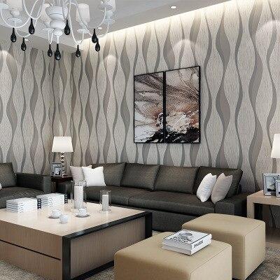 Modern Minimalist Wave Curve Stripes Non-woven Wallpaper 3D Relief Living Room Bedroom Restaurant Background Wallpaper