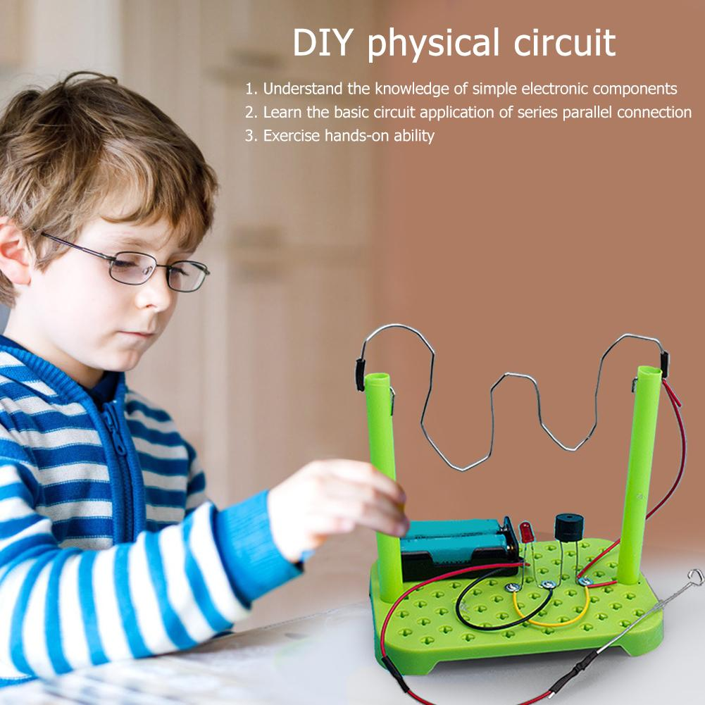 DIY Circuit Kit Excellent ABS Electronic Components Physical Science Experiments Intelligence Develop Learning Toys