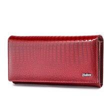 HH New Women Wallets  Luxury Brand Alligator Long Genuine Leather Ladies Clutch Coin Purse Fashion Female Crocodile Cow Wallet