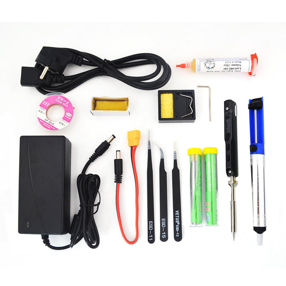 TS100 65W 240V Mini Electric Iron Tool Kit Digital OLED Display Adjustable Temperature And Welding Power Supply
