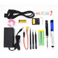 TS100 65W 240V Mini Kit de herramientas de hierro eléctrico pantalla Digital OLED temperatura ajustable y fuente de alimentación de soldadura