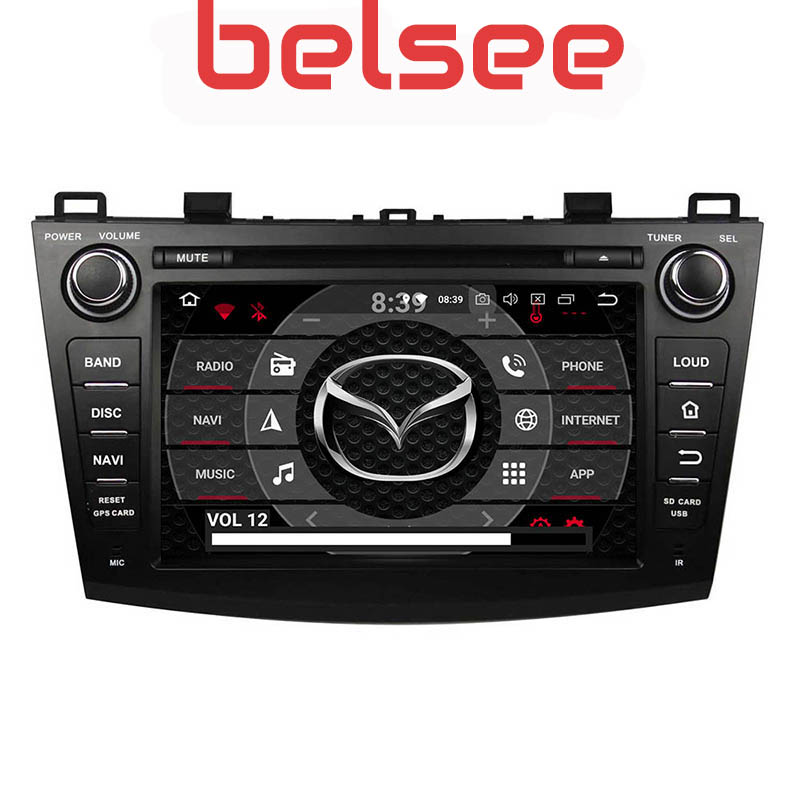 Belsee Ram 4+64GB Android 9.0 Car DVD Player Radio Multimedia <font><b>2din</b></font> IPS Screen Head Unit GPS for <font><b>Mazda</b></font> <font><b>3</b></font> 2009 2010 2011 2012 2013 image