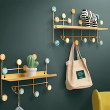 sobuy fhk09 sch metal wall mounted letter rack and key holder wall coat rack wall shelf unit with 6 hooks Creative Wall Mounted Decorative Frame Personalized Iron Art and Shell Design Hooks Living Room Bedroom Wall Key Hooks Coat Rack