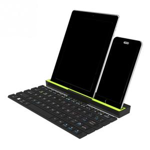 Image 2 - 1PCS With Holder Wireless Bluetooth Keyboard Universal Roll Up Quick Response Key Board with Phones Holder