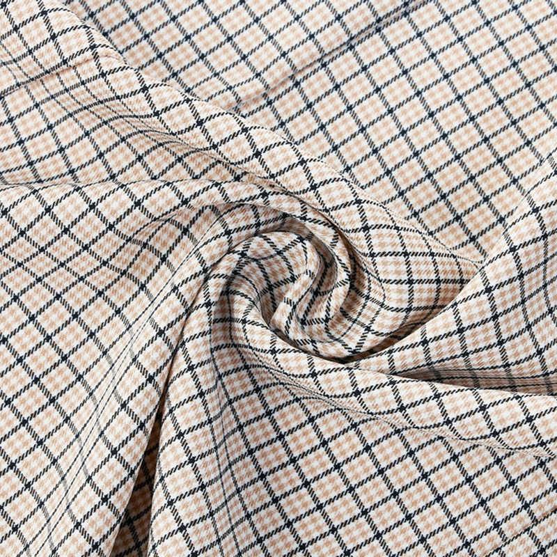 Versear женский тонкий клетчатый Блейзер Платье Осенняя куртка с длинными рукавами верхняя одежда с зазубренными лацканами Повседневный Женский офисный женский деловой костюм
