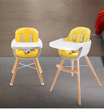 Wooden Baby dining chair Children's high chair baby eating dinner table feeding chair seat