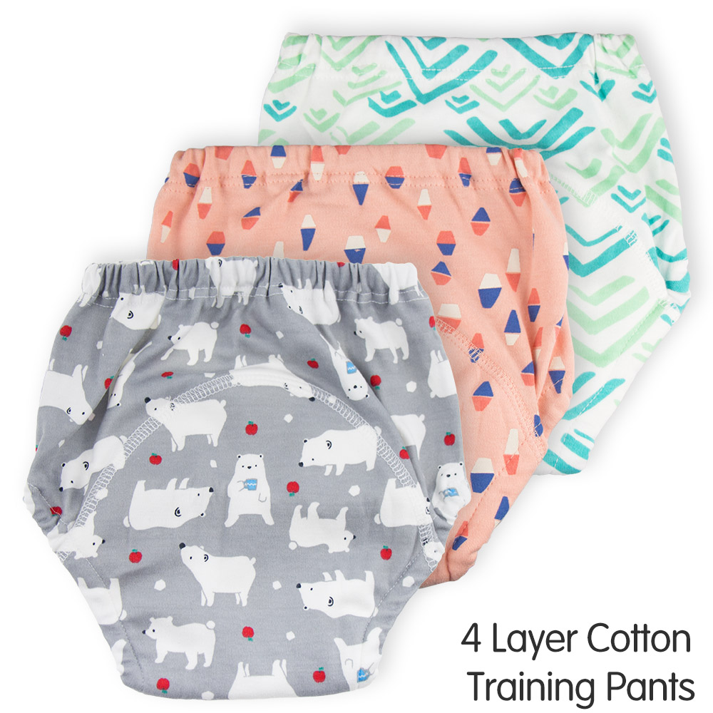 Reusable Baby Potty Training Pants 4 Layers Cotton Waterproof Baby Training Pants Washable Diapers Breathable Cloth Diaper