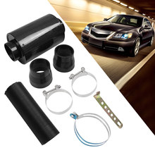 "Universele Intake Luchtfilter Cold Air Intake Inductie Kit 3 ""Flexibele Feed Gesloten Intake Inductie Pijp Slang Kit Carbon fiber(China)"