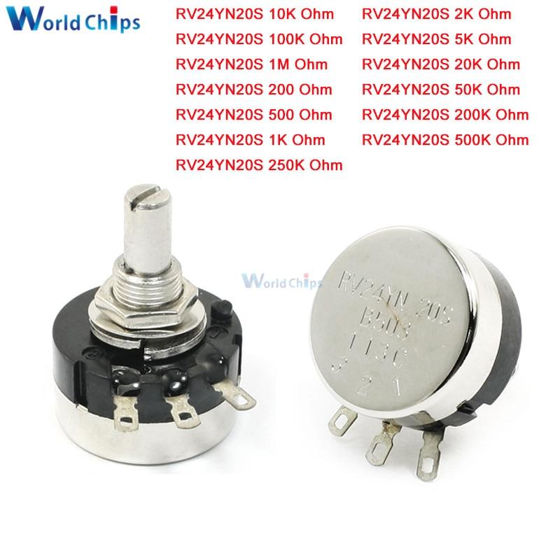 2pcs RV24YN 20S B102 1K Ohm Carbon Film Rotary Taper Potentiometer Resistor