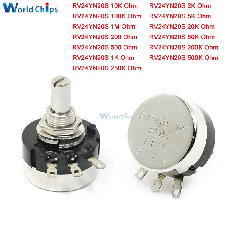 RV24YN20S 6mm Rotatif à Film Carbone Conique Potentiomètre B102 B202 B502 B103 B203 B503 B104 B204 B504 B105 1K 2K 50K 10K 20K 500 ohm