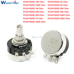 RV24YN20S 6mm Carbon Film Rotary Taper Potentiometer B102 B202 B502 B103 B203 B503 B104 B204 B504 B105 1K 2K 50K 10K 20K 500 ohm(China)