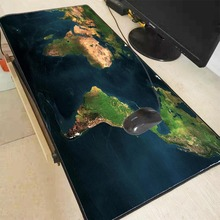 MRGBEST 90x40/80x30MM XXL XL Blue World Map Large Size Gaming Black Lock Edge Mouse Pad Laptop Pc Game Gamer Computer Accessory