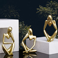 Форгетивные статуи из смолы, креативные абстрактные фигурки людей, скульптуры, миниатюрные фигурки, ремесло, офис, украшение для дома, аксес...