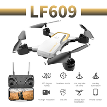 RC Quadcopter LF609 Drone 4K HD Wide Angle Dual Camera Optical Flow WIFI FPV Foldable Selfie Drones Professional Helicopter